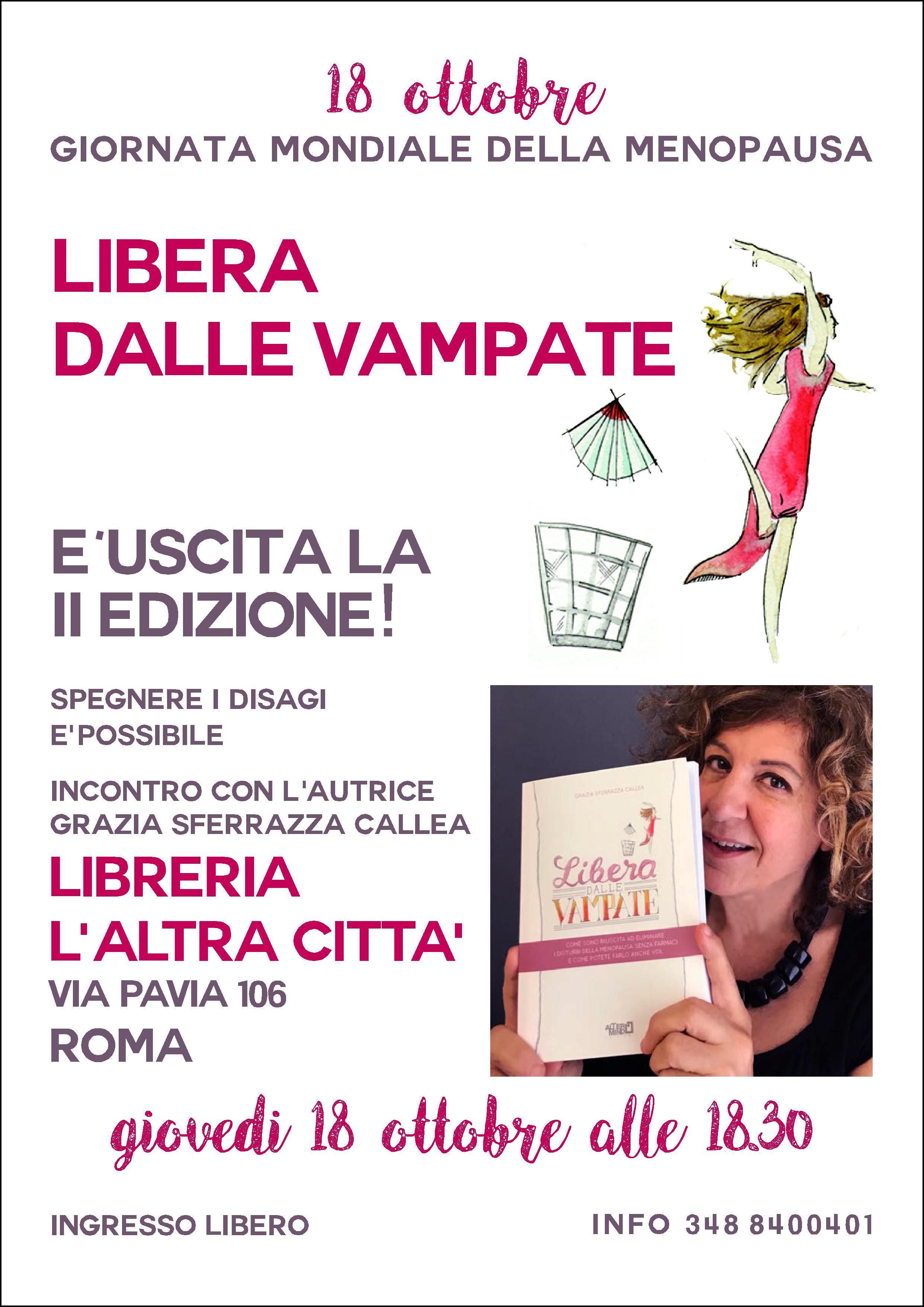 """18 ottobre Giornata della Menopausa: esce la seconda edizione di """"Libera dalle vampate"""""""
